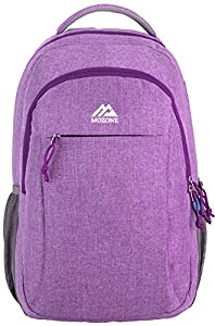 Mozone Casual Lightweight Water Resistant College School Laptop Backpack Travel Bag (Purple)