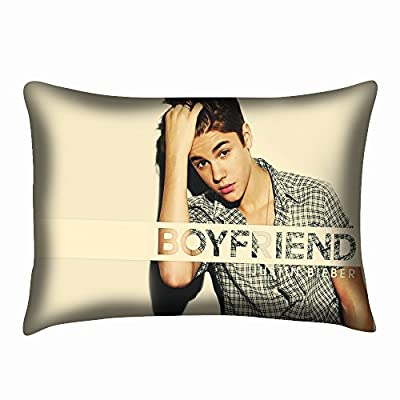 Justin Bieber Pillow Case Cushion Cover Pillow Slip Two Sides 20x30 Inch