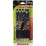 Zebra Z-Grip Animals Retractable Ballpoint Pen, 1.0mm, Assorted, 5 Pack (22805)