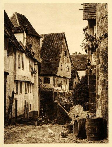 1924 Germany Wimpfen Neckar Staufer Gate Spa Chicken - Original Photogravure (Chicken And Spa compare prices)