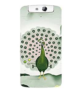 ANIMATED PEACOCK FEATHERS SHOWN AS A KEYPAD 3D Hard Polycarbonate Designer Back Case Cover for Oppo N1