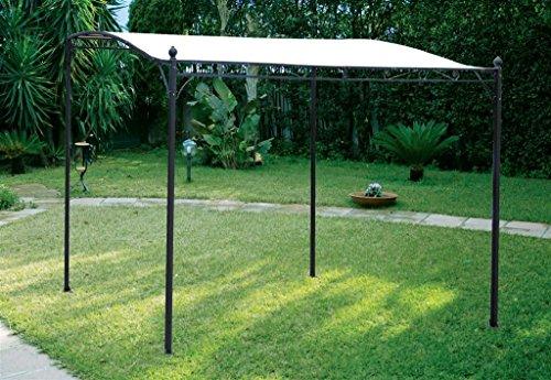 Gazebo 3 x 2,5 mt struttura in ferro colore marrone