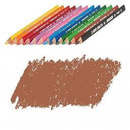 JOLLY X-BIG Delta Colored Pencil, Brown, Three 12-Packs = 36 pcs. 3399-0014