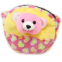 Tickles Yellow Cute Teddy Sling Bag Stuffed Soft Plush Toy Love Girl 20 Cm