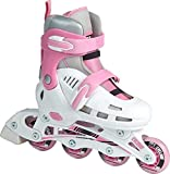 SFR Cyclone White/Pink Kids Adjustable Inline Skates