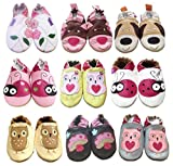 Tinys Wardrobe Baby Girls Soft Leather Shoes Cat 6 12 Months