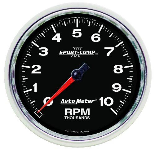 """Auto Meter 3698 Sport-Comp Ii 5"""" 10000 Rpm In-Dash Tachometer"""
