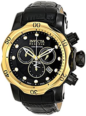 Invicta Men's 16685 Venom Analog Display Swiss Quartz Black Watch