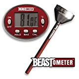 Digital Instant-Read Meat Thermometer Cooking BBQ Thermometer with Stainless Steel Casing & Probe