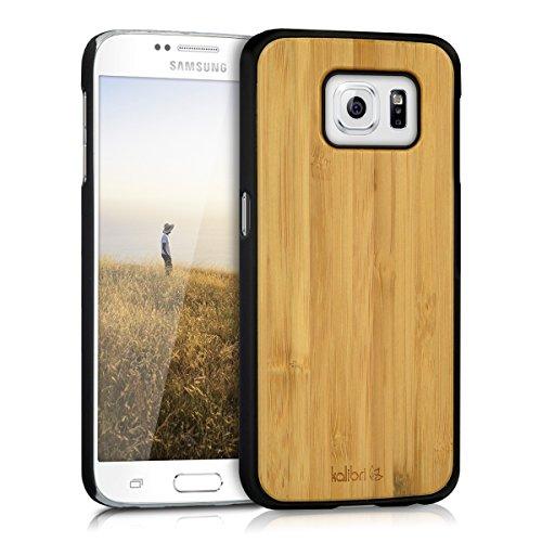 kalibri-Schutzhlle-aus-Holz-fr-Samsung-Galaxy-S6-S6-Duos-Premium-Echtholz-Case-Cover-mit-Kunststoff-in-Hellbraun