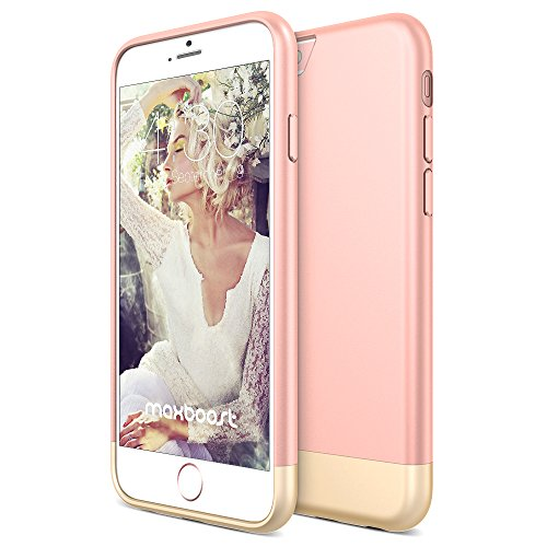 Maxboost Vibrance S Scratch Protection Slider Style Case for iPhone 6 / 6S - Rose / Champagne Gold (I Phone 6 S Accessories compare prices)