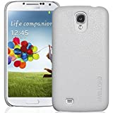INVELLOP White/Light Gray Leatherette Case Cover for Samsung Galaxy S4 SIV i9500 (Galaxy S4, White)