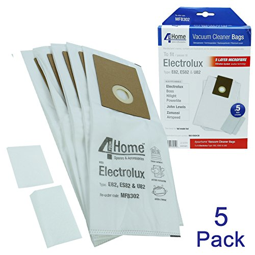 First4spares Type E82 U82 Microfibre Vacuum Bags + 2 Filters For Electrolux The Boss, Highlight, Powerlite, Etc Picture