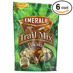 Emerald S'mores Trail Mix, 5.5-Ounce Bags (Pack of 6) by Emerald