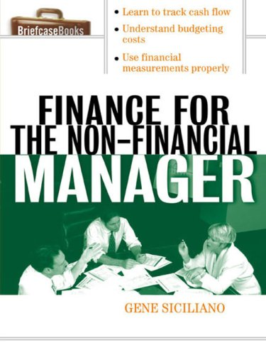 Finance for Non-Financial Managers (Briefcase Books Series) (Briefcase Books) (Kindle Edition)
