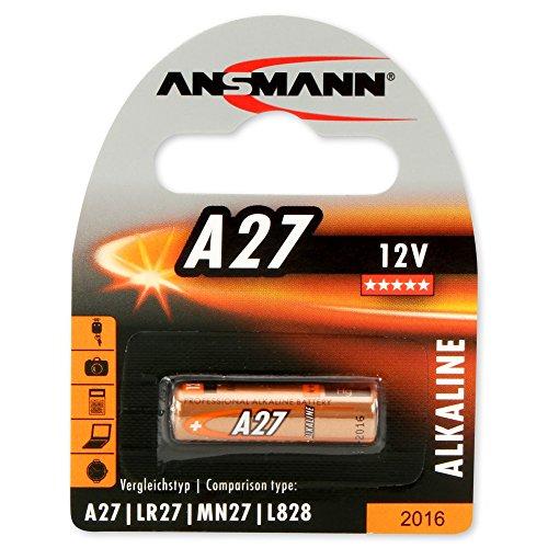 Alkaline Batterie A27 (12V) MN27, V27A für Garagentoröffner, Alarmanlage, Miniradio, Funkauslöser für Kamera, Messgeräte, Klingel usw..