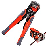 Kuman Industrial Tools 8-Inch Self-Adjusting Automatic Wire and Cable Stripper Cutters Crimper Stranded Wire Cutting for Industry P8100