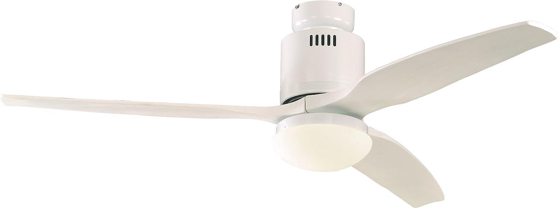 Casafan Deckenventilator Aerodynamix weiß, 132 cm Flügel, weiß integrierte Leuchte - energiesparend - modernes Design 93132322