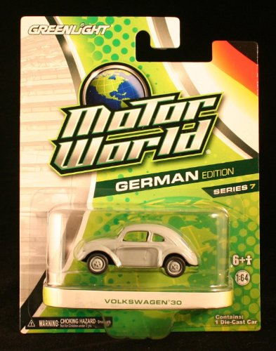 GREENLIGHT 1:64 SCALE MOTOR WORLD GERMAN EDITION SERIES 7 GRAY VOLKSWAGEN 30 DIE-CAST COLLECTIBLE by Motor World - 1