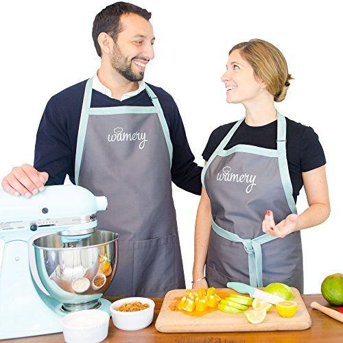 Apron with two big Pockets. Neutral colors for Men and Women. Adjustable Neck, ONE Size fits most: Small, Medium, Large and XL. Ideal for Everyday Cooking. Durable, Resistant. Kitchen Professional. (Fat Chef Kitchen Stuff compare prices)