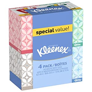 Kleenex Upright Facial Tissue, 4 Count