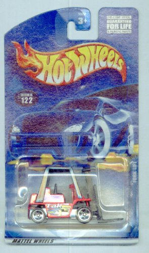 Hot Wheels 2001-122 RED Fork Lift 1:64 Scale - 1