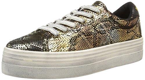no-name-plato-sneakers-basses-femme-or-shiny-snake-bronze-38-eu