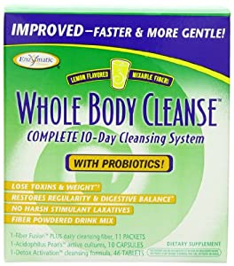 Enzymatic Therapy Whole Body Cleanse Kit with Probiotics, Lemon flavored, 10 Day Program