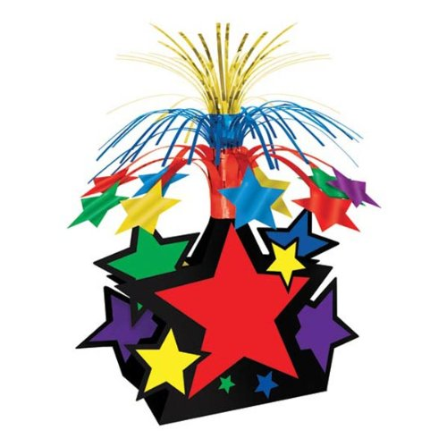 Star Centerpiece (multi-color) Party Accessory  (1 count) (1/Pkg)