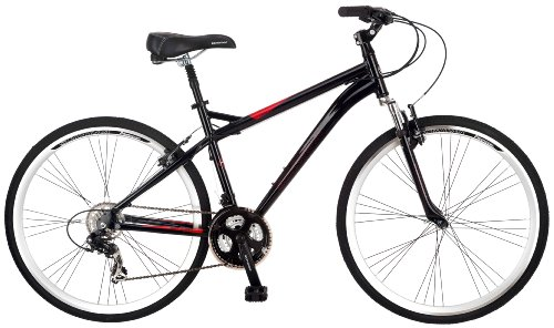 Best Price! Schwinn Men's Siro 700c Hybrid Bicycle, Black, 18-Inch Frame