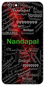 Nandapal (Lord Krishna) Name & Sign Printed All over customize & Personalized!! Protective back cover for your Smart Phone : Samsung Galaxy S5mini / G800