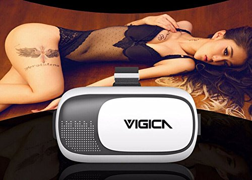 VIGICA Virtual Reality VR Headset VR Box II 3d Video Glasses Games Google Cardboard with Bluetooth Remote Control...