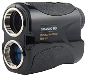 Breaking 80 Golf Laser Rangefinder Range Finder with Advanced Pin Sensor Technology (Black)