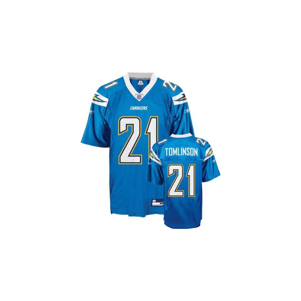 LaDainian Tomlinson Powder Blue Reebok NFL Replica San Diego Chargers Jersey   XX Large  Athletic Jerseys  Clothing