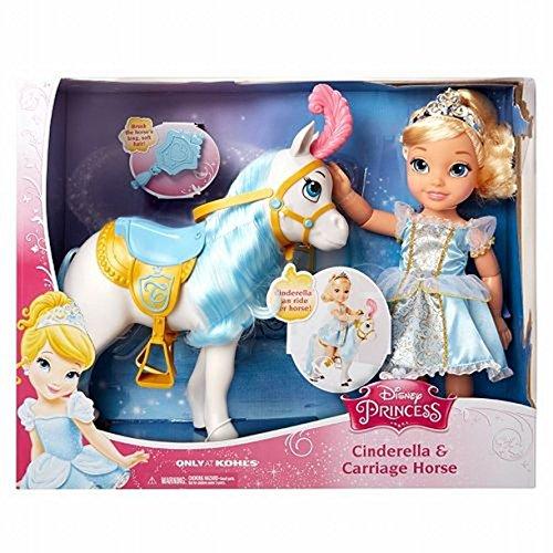 Disney Princess Toddler Doll Cinderella: Disney Princess Cinderella Doll & Carriage Horse Set