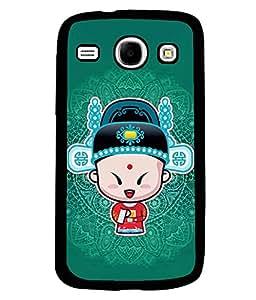 PRINTVISA The Chieness Premium Metallic Insert Back Case Cover for Samsung Galaxy Core - I8260 / I8260 - D5824