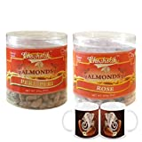 Chocholik Dry Fruits With Diwali Special Coffee Mugs - Almonds Peri Peri & Almonds Rose - Diwali Gifts - 2 Combo...