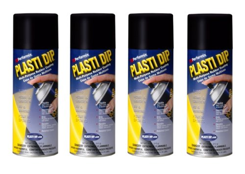 pack performix plasti dip black 11oz spray can rubber handle coating. Black Bedroom Furniture Sets. Home Design Ideas