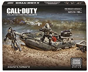 Mega Bloks Call of Duty RIB Beach Assault Collector Construction Set