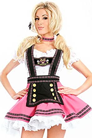 COSWE Womens Babe Beer Girl Maiden Adult Halloween Costume