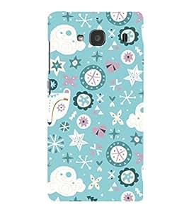 EPICCASE sky blue Mobile Back Case Cover For Mi Redmi 2 (Designer Case)