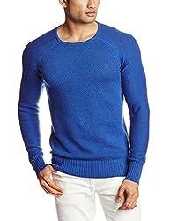 GAS Men's Cotton Blend Sweater (8059890929757_83444_Medium_1726-Deep Danube)