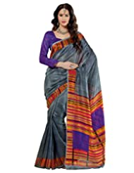 Prafful Silk Bhagalpuri Printed Saree With Unstitched Blouse - B00KNURIPW