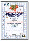 Strawberry Picnic Digital Art Cd Plus Video Tutorial