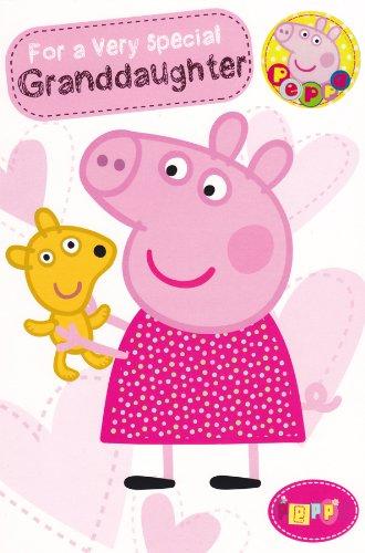 Peppa Pig Granddaughter Birthday Card
