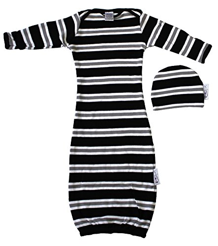 Woombie Indian Cotton Gowns Plus Hat, Jailhouse Rock, 24-30 Lbs
