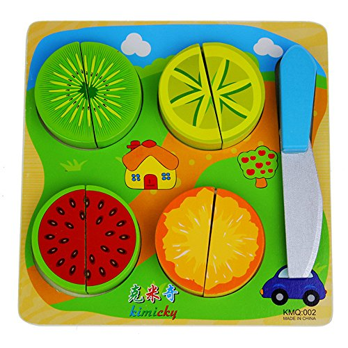 Fruit-cutting Toys for Baby Wooden Educational Toys for 2 Year and Up - 1