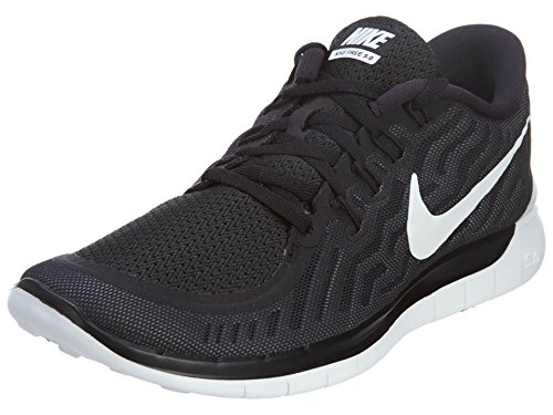Nike Women's Free 5.0 Black/White/Dark Grey/Dv Grey Running Shoe 8 Women US