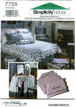 Simplicity 7755 Sewing Pattern Bedroom Decor Pillow Cover Laundry Bag Pajama Bag Table Cover front-840502