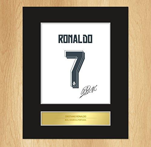 Encadrée signée Par Cristiano Ronaldo Real Madrid Photo artistique